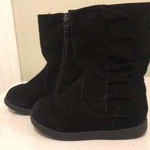 Little girls black boots